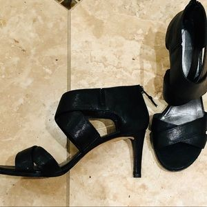 Stuart Weitzman Vintage Leather Strappy Heels